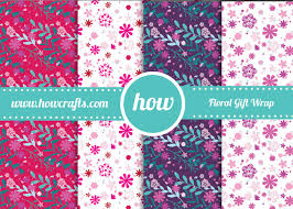 flower wrapping paper howcrafts flower wrapping paper in a3 pdf for free and use