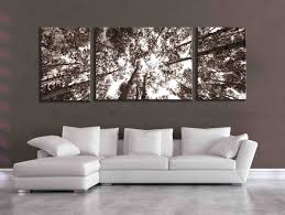 large sepia three panel multi piece aspen birch tree nature zoom