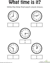 telling the time worksheet education com