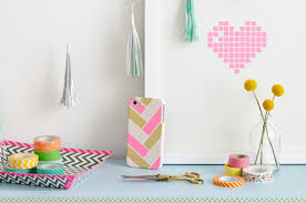 washi tape designs fun with washi tape herringbone cell phone cover chronicle books blog