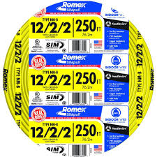 southwire 250 ft 12 2 2 solid romex simpull cu nm b w g wire