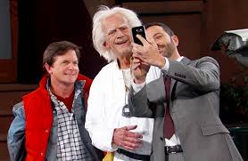 michael j fox christopher lloyd reprise their back to the future