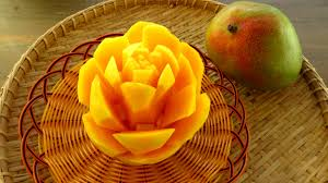 flower fruit in mango flower fruit carving garnish mango