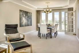 Dining Room French Doors - Dining room with french doors