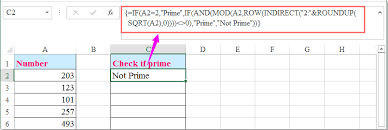 how to check if the number is prime number in excel