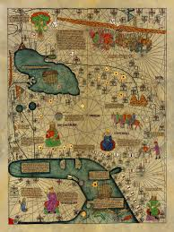 Medieval Maps Abraham Cresques Stunning 14th Century Map Of The Known World