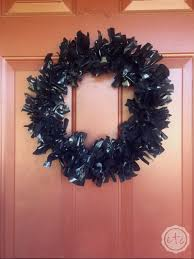 How To Make Halloween Wreath How To Make A Fun Halloween Wreath With A Coat Hanger And Hefty