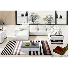 Contemporary White Leather Sectional Sofa by Diamond Leather Sectional Sofa White Leather Sofa Bay Area Sofa