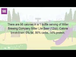 busch light calories and carbs how many calories are in a bottle of miller light youtube