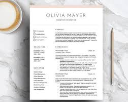 Resume Template Mac Pages Fashion Resume Etsy