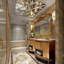 Luxurious Bathroom Luxury Bathrooms Design With Floating Sink And Wall Lighting Plus