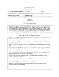 Logistics Resume Examples by Logistics Job Description Retail Operations Manager Job