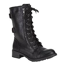 buy combat boots womens amazon com soda womens dome combat boots mid calf
