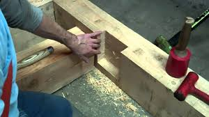 trees to timber frame cabin off grid homestead project floor joist