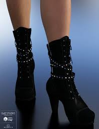 s boots biker biker boots for genesis 3 s 3d models and 3d software by