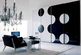 living room interior decorating with black and white color for