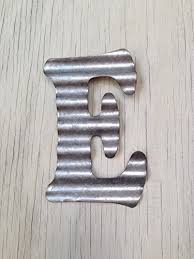 amazon com corrugated metal wall letters home decor initial