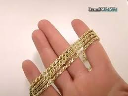 rose gold rope chain bracelet images 10k gold rope chain 36in 3mm yellow rose white gold jpg