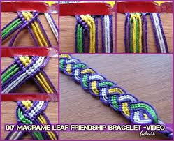 bracelet diy friendship images Diy macrame leaf friendship bracelet tutorial video jpg