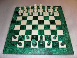 Cool Chess Sets by Malachite Stone And White Marble Chess Set One Of My Favou U2026 Flickr