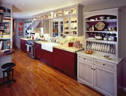 Two Color Kitchen Cabinets Two Tone Kitchen Cabinet Designs Kitchendecorate Net Red On The