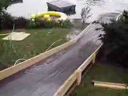 Water Slides Backyard by The Homemade Water Slide Youtube