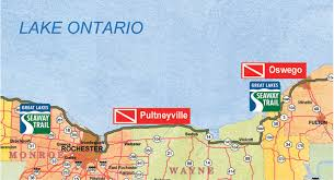 St Lawrence Seaway Map Deliberate Sinking To Create Lake Ontario Dive Destinations Panel