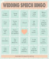 wedding words for bingo 25 best wedding speech ideas on bridal
