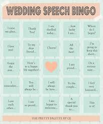 wedding words for bingo 25 best wedding speech ideas on bridal