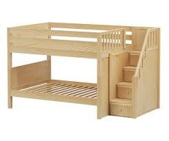 Maxtrix DAPPER Low Bunk Bed With Stairs Bed Frames Matrix - Full bunk bed with stairs