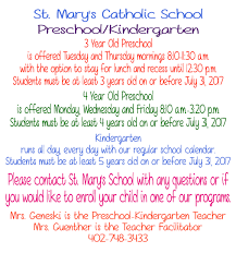 preschool kindergarten information u2013 st mary of the seven dolors
