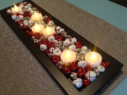 coffee table centerpiece featured black box with candles plus