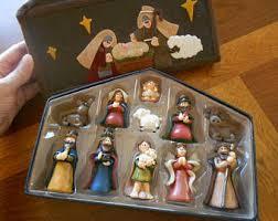vintage nativity set etsy