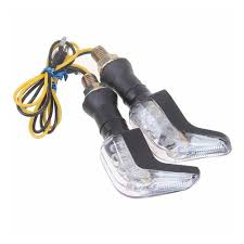 motorcycle shoes with lights 4x universal motorbike motorcycle led turn signals indicator blue