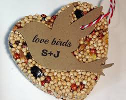 bird seed favors 75 bird seed heart shaped favor mini wedding and events