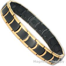 black magnetic bracelet images Jet black gold edges magnetic bracelet jpg