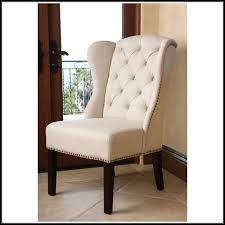 tufted leather wingback chair chair home furniture ideas