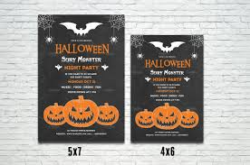 25 halloween poster flyer template psd ai indesign word