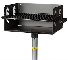 barbecue cuisine outdoor park bbq grills by park tables