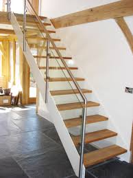 Glass Banister Uk Bespoke Staircase Basingstoke With Solid Oak Treads