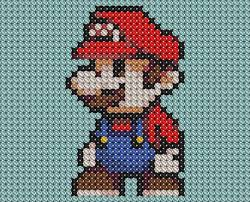 mario cross stitched by drsparc on deviantart