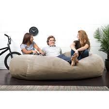 Big Joe Zebra Bean Bag Chair Fuf 6 Ft Twill Bean Bag Media Lounger Zebra Hayneedle