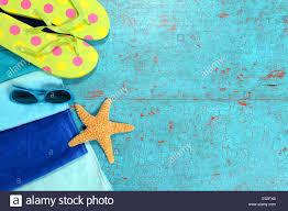 flip flop towel towel sunglasses starfish and flip flops painted wood