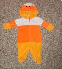 Candy Corn Costume Baby Boys Girls Halloween Candy Corn Costume Romper With Hood 0 3