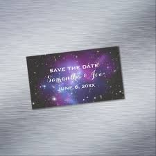 Purple Business Cards Purple Galaxy Cluster Wedding Save The Date Magnetic Business Card