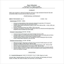 assistant restaurant manager resume profile sample by business