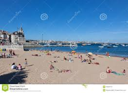 Cascais Portugal Map Beach In Cascais Portugal Royalty Free Stock Images Image 34815209