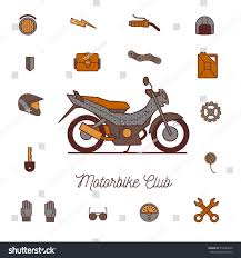 motorbike accessories motorbike accessories icon illustration isolated vector stock