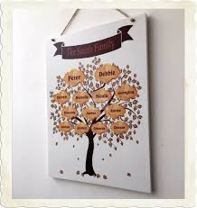 family tree sign personalised wooden plaque memories love gift
