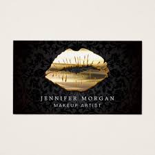 freelance makeup artist business card eye catching 3d black gold makeup artist business card